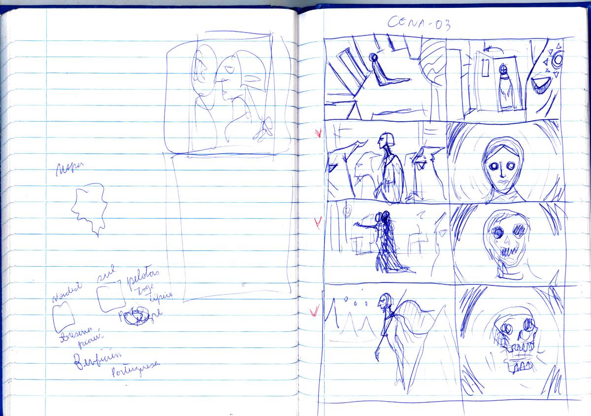 Medea Sketchbook storyboards